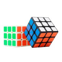 block puzzle classic - Classic Magic Toys Cube3x3x3 PVC Sticker Block Puzzle Speed Cube Colorful Learning Educational Puzzle Cubo Magico Toys