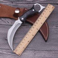 Wholesale Hibben klaue Messer Karambit handgemachte jagdmesser Kampf tactical überleben tasche feststehende messer camping selbst verteidigung militär
