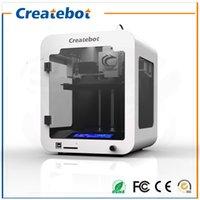 Wholesale 3d printer mm Printing Size LCD Screen Full Metal createbot super mini d printer for Children s gift