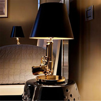 bedroom design paint - Modern Flos Lounge Gun AK47 Chrome Gold Gun Starck Design Philippe Bedroom Table Lamps Desk Light Read Night Light Super Light