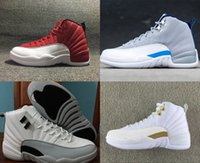 Wholesale 2016 New Retro GS Barons s Kids White Gray OVO Gym Red Grey Blue Mens Women Basketball Shoes Cheap Fashion Sneakers Size