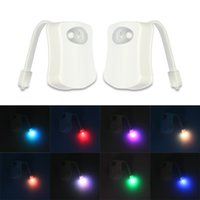 Wholesale explosion models productEight color of the human sense of the creative toilet toilet hook night light factory direct patented product