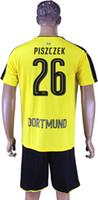 Wholesale 2016 German Dortmund Soccer Sets Pisczek Weigl Burki Durm Customerized Jerseys yellow and Black Colors available