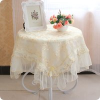 Wholesale European Hot pastoral embroidered lace tablecloths waterproof oil anti hot coffee Wallpapers table cloth