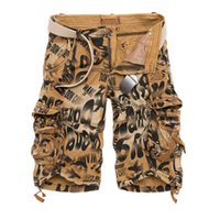 Wholesale Shorts Mens Bermuda Short Camouflage Printing Men Homme Multi Pocket Cargo Shorts Leisure Loose