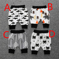 Wholesale Summer Baby Infant Toddler Cotton Loose Harem Shorts Pants Boy Girl Printing Mid Calf Sleepwear Trousers Bloomer Bottom Pajamas Shorts Pants