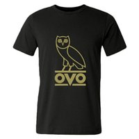 Wholesale Mens Short Sleeve Ovo Bird Round Neck Cotton Leisure Sports T shirts
