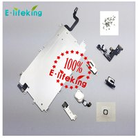 apple iphone metal button - for iphone P LCD Assembly Digitizer Full Set Small Repair Part Metal Shield Plate Front Camera Ear Speaker Home Button Flex