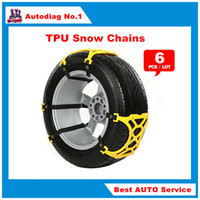 audi tire chains - 6Pcs Universal TPU Snow Chains Suit mm Tyre Roadway Safety Tire Chains Snow Climbing Mud Ground Anti Slip