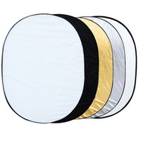 Wholesale quot quot cm Oval Reflector in Multi Collapsible Studio Photo Photography Light Reflector