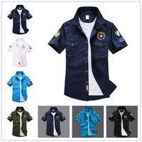 Long Sleeve air force dress shirt - 2017 Mens Solid Shirt Fashion Air Force Military Shirt Uniform Fitness Casual Shirts Aeronautica Militare Chemise Men s Dress Shirts