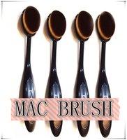 bags pro - Pro MC Soft Oval Toothbrush Makeup Brush Foundation Brushes Cream Contour Powder Blush Concealer Brush Makeup Tools Plastic Bag