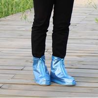 Wholesale NEW Portable Rain Boots ASDS Environmental protection PVC Waterproof Wear resistant Zipper Shoe Cover size S XL