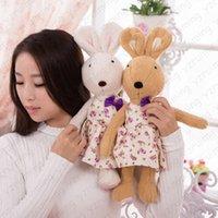 big present bow - 1pcs cm Le sucre sugar rabbit plush toys shivering bow style sugar rabbit toy doll A birthday present