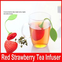Wholesale Mr Tea Infuser Red Silicone Strawberry Design Loose Tea Strainer Herbal Spice Tea Infuser Filter Tools