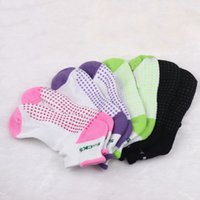 Wholesale 5Pairs Women Cotton Non Slip Massage Toe Socks Girls Colorful Glue Dots Letters Printed Socks For Sport Gym