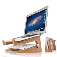 Wholesale Wooden Laptop Stand Detachable Laptop Vertical Holder for MacBooK Pro Air Retina to inch Universal Laptop Stand