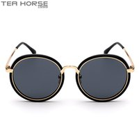 acrylic tea box - TEA HORSE1999 Brand New Fashionable Sunglasses Retro Fashion Beach Hip Hop AC Material Movement Hanging Box Number