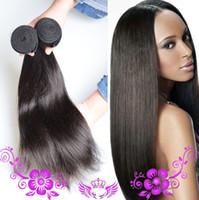 Grado 8A Pañuelos virginales virginales rectos malasios peruanos brasileños El pelo humano natural sin procesar 8 ~ 30 pulgadas puede ser teñido