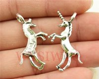 Wholesale WYSIWYG mm antique silver tone Unicorn charms