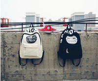 backpack united states - 2016 new fashion casual Korean basketball canvas backpack Europe and the United States wind style fresh art shoulders