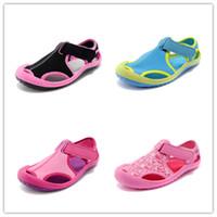 Ankle Strap baby boy sandals - Boy sandals summer new children Korean version of Baotou big virgin baby children beach shoes