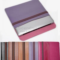 Wholesale MacBook PU leather Sleeve Bag for MacBook Air Pro inch OPP BAG