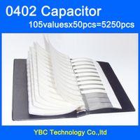 Wholesale muRata SMD Capacitor Sample Book valuesX50pcs PF UF Capacitor Assortment Kit Pack