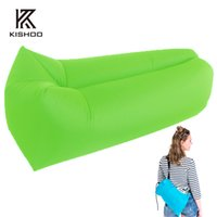Wholesale Outdoor Inflatable Couch Camping Furniture Sleeping Compression Air Bag Lounger Hangout Fabric Bearing kg kg
