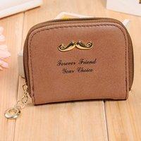 bag moustache - 9 colors Fashion women PU coin purse moustache cute Vintage Wallets Storage bags Card bags Women Bags