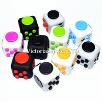 Wholesale DHL Free Hot selling novelty Fidget Cube stress relief toys for kids and adults colors Decompression stress balls with Retail Box