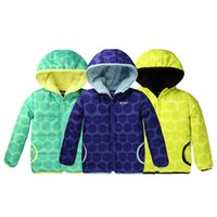 Wholesale Children cotton jacket with padded waterproof windproof coat cashmere thickened outdoor clothing boys and girls for