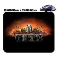 Wholesale Selling tanks world mouse pad non slip durable can be customized can be used as a gift decorate your laptop computer and a desk