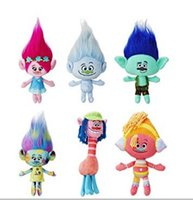 Wholesale The Newest Movie Trolls Plush Toy Poppy Branch Dream Works Stuffed Cartoon Dolls The Good Luck Trolls Christmas Gifts