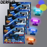 Wholesale 4x LED Blue Car Charge interior accessories foot car decorative in1 lights Car Interior Decoration Light