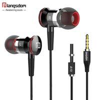 Noise Cancelling best earbud - Langsdom A10 ErgoFit Best in Class InEar Earbud Earphones Dynamic Crystal Clear Sound Ergonomic Comfort Fit for All Mobile Phone
