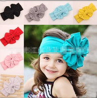Headbands Cotton Solid 2016 European Style Fashion Hot Selling Baby Girl Hair Band Multicolor Head Band 11 Colors Bowknot High Quality Bow Hair Accessories