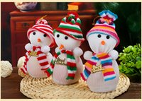 bag violet - 8 quot Christmas Products Snowman Bags Christmas Eve Apple Bags of Christmas Scene Decoration Supplies Christmas gifts
