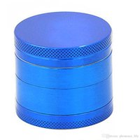 Wholesale Black Blue Mini Layers Metal Tobacco Crusher Hand Muller Smoke Herbal Herb Grinder