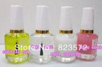 Wholesale Cuticle Oil Top Coat - Wholesale-12pcs nail care saver base coat+top coat+nail cuticle+cuticle oil+free shipping