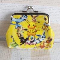 animals with shells - 2016 D Cartoon poke go Pikachu Coin Purse minions Frozen ELSA sofia change Zero purses with iron button shell bag wallet children Gifts