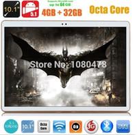 Venta al por mayor 10 PC de la tableta de la pulgada 3G de la PC de la tableta 4G RAM 32GB / 64GB de la ROM de la octava 1280 * 800 IPS 5.0MP Bluetooth GPS 10.1 tablero + regalos DHL