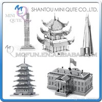 architecture free - DHL Piece Fun D World architecture White House Willis Tower Pagoda Yueyang Tower Metal Puzzle adult models educational toy