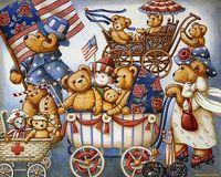 bear cross stitch - New diy diamond painting cross stitch kits resin pasted painting full round drill needlework Mosaic Home Decor cartoon bear y0005