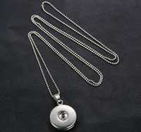 Wholesale White K noosa necklace Chunk Charm Snap Button Nosa Pendant Necklaces women DIY long Press bead chain pendant necklace statement jewelry