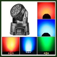 Wholesale 7 W Mini Stage Moving Head LED Spot Light DJ Disco Party Club Live Concert DMX Lighting