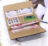 Wholesale 2016 Fashion Faux Suede Leather Deer Decorate Women Handbag Lady Long Clutch Bag Card Holder Coin Case Purse Organizer Wallets