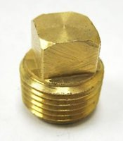 Wholesale Square Head Plug NPT quot Solid Brass Male Thread Pipe Fitting