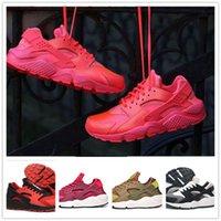 Running Flat Men 2017 Air Running Shoes Huaraches For Men Women Sneakers Zapatillas Deportivas roshe run Sport Shoes Glod Black Huarache free shipping