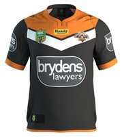 Wholesale 2017 Wests Tigers rugby jerseys top thai quality Wests Tigers home shirts men shirts euro size S